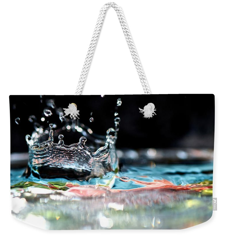 Bokeh Weekender Tote Bag featuring the photograph Neptune's Crown by Lisa Knechtel