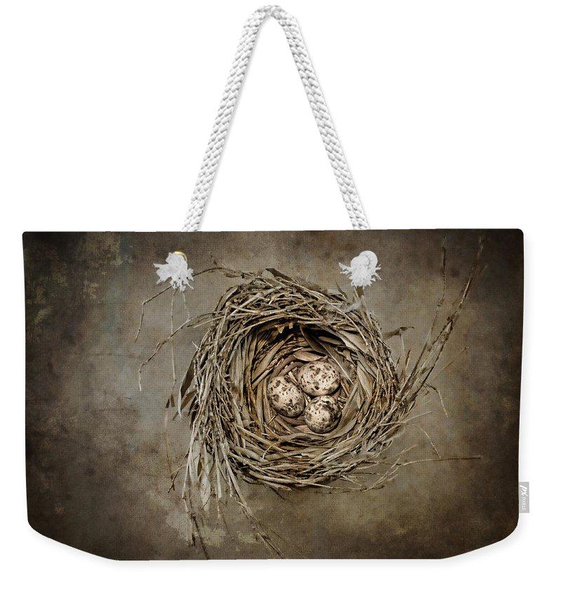 Birds Nest Weekender Tote Bags