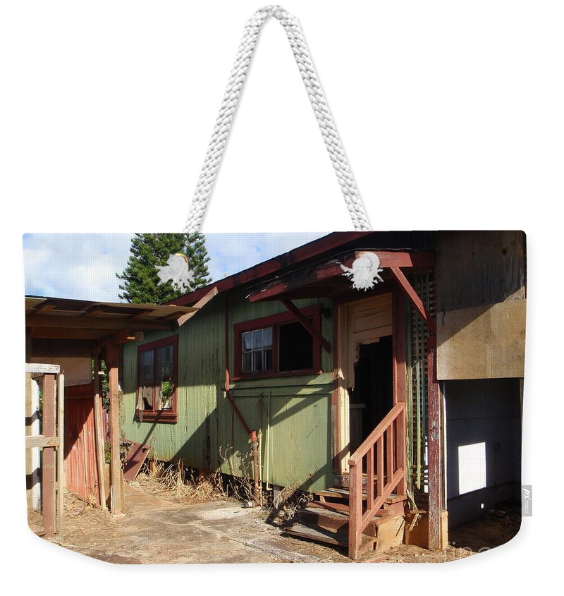 Mary Deal Weekender Tote Bag featuring the photograph Never Mind Knocking by Mary Deal