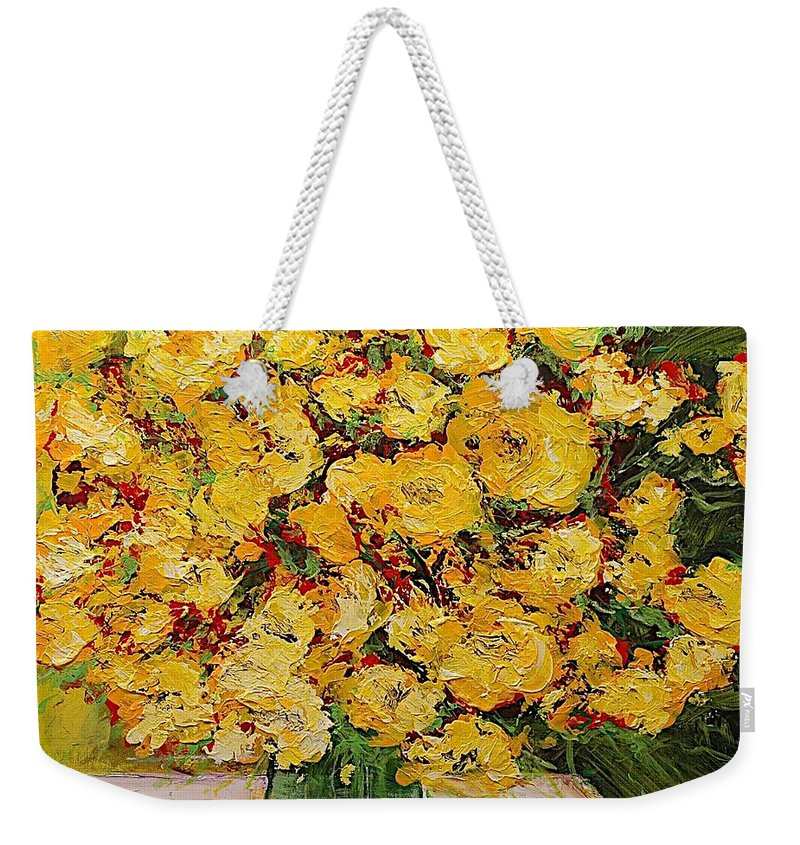 Landscape Weekender Tote Bag featuring the painting New Beginnings by Allan P Friedlander