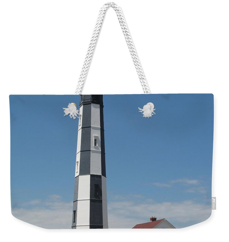 Lighthouse Weekender Tote Bag featuring the photograph New Cape Henry Lighthouse by Christiane Schulze Art And Photography
