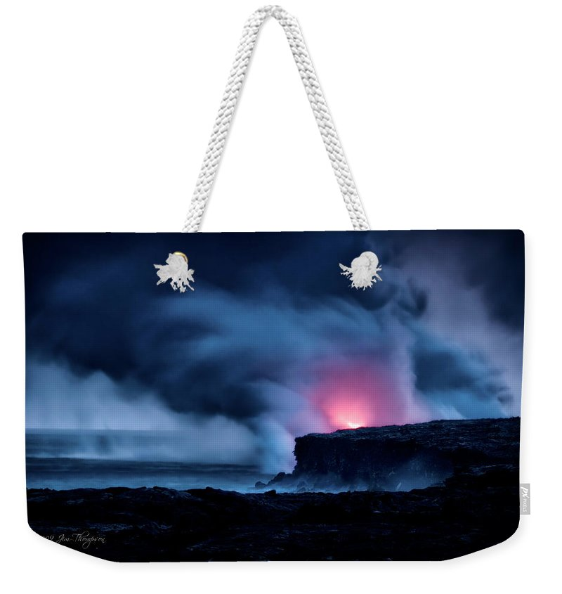 Pu'u 'o'o Weekender Tote Bag featuring the photograph New Earth by Jim Thompson