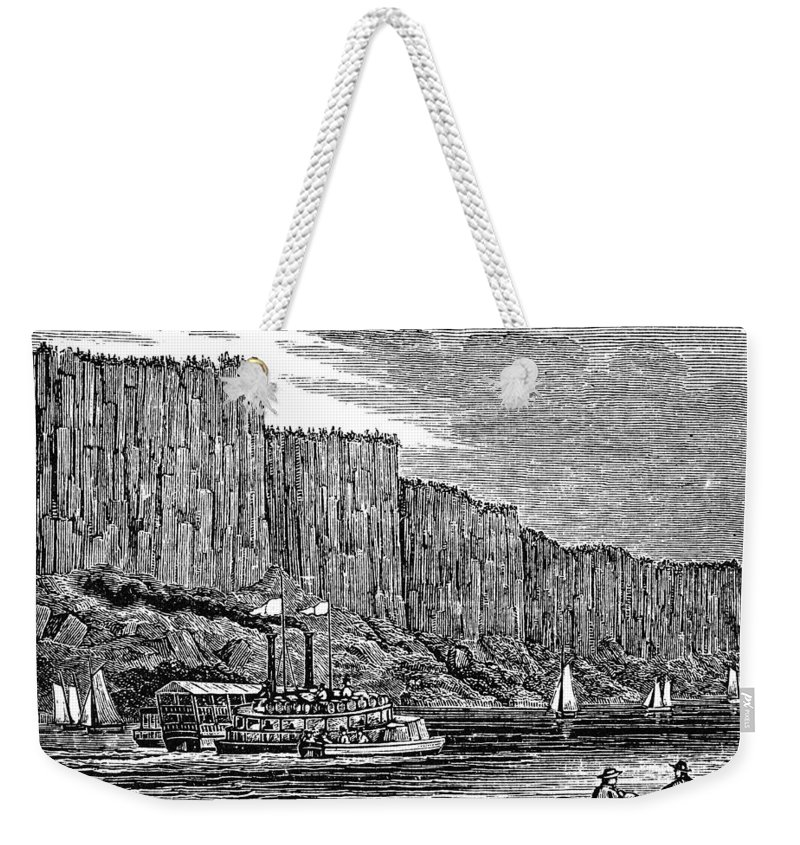 1844 Weekender Tote Bag featuring the painting New Jersey Palisades by Granger