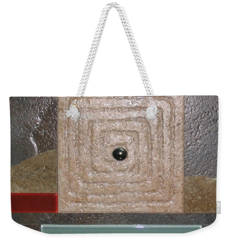 Assemblage Weekender Tote Bag featuring the relief New Moon by Elaine Booth-Kallweit