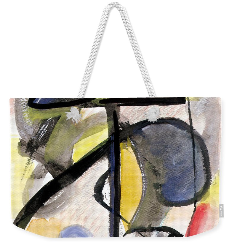 Abstract Art Weekender Tote Bag featuring the painting New Moon by Stephen Lucas