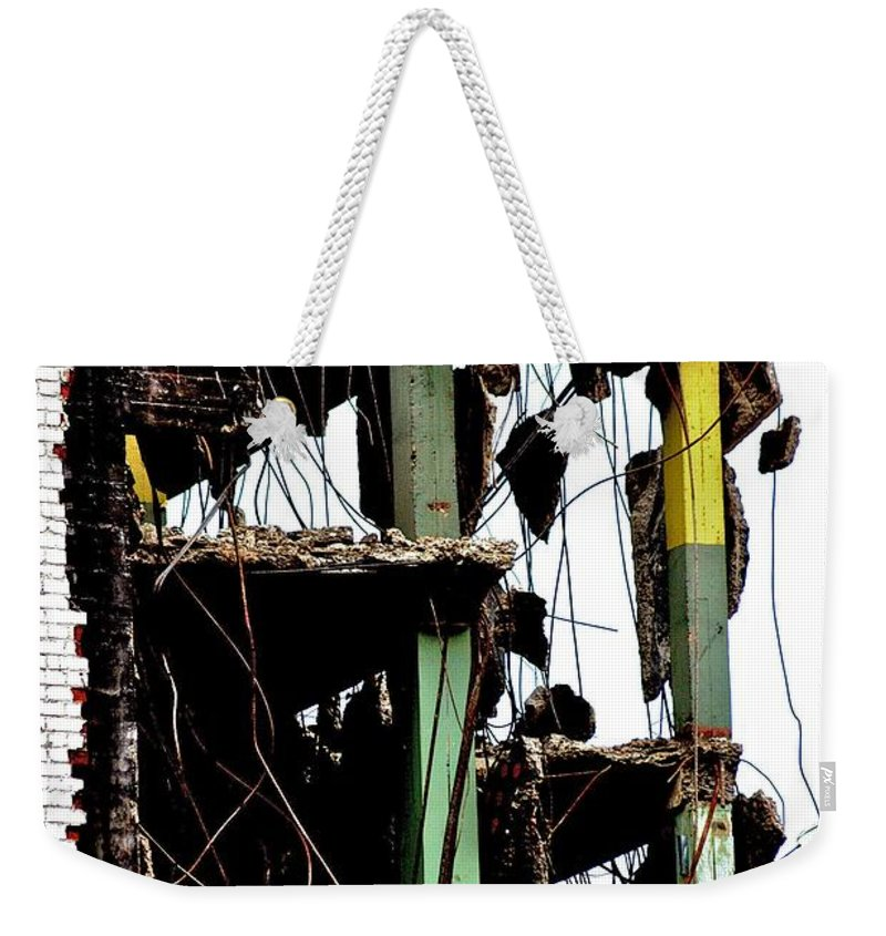 Building Demolition Weekender Tote Bag featuring the photograph New Nashville by Joseph Yarbrough