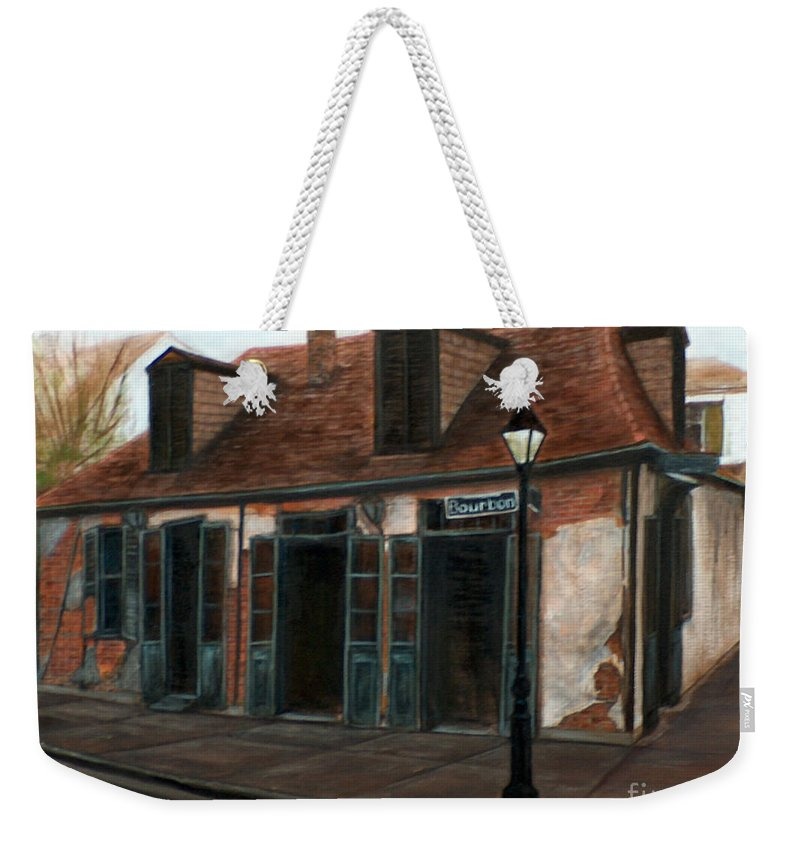 Realism Weekender Tote Bag featuring the painting New Orleans Familiar Site Before by M J Venrick