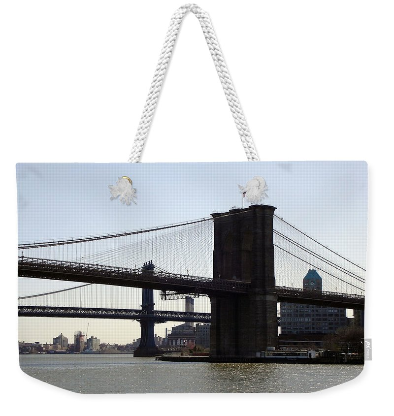 Bridge Weekender Tote Bag featuring the photograph New York Bridge 5 by Lovina Wright