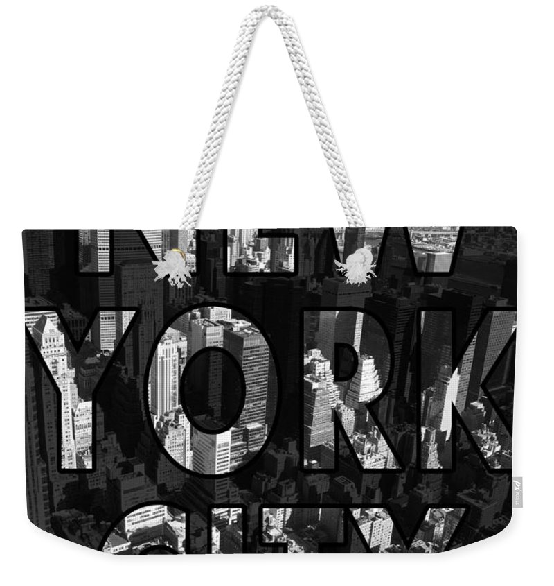 New York Weekender Tote Bag featuring the photograph New York City - Black by Nicklas Gustafsson