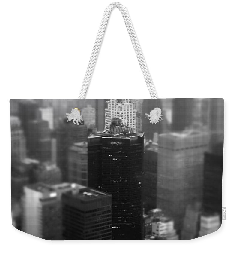 Nyc Weekender Tote Bag featuring the photograph New York City - Fog And The Chrysler Building by Vivienne Gucwa