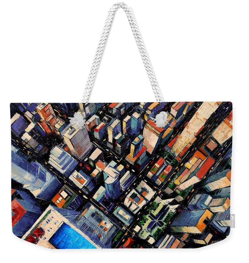 Midtown Paintings Weekender Tote Bags