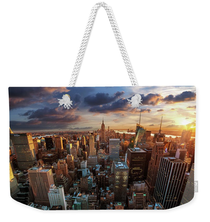 Tranquility Weekender Tote Bag featuring the photograph New York City Skyline by Dominic Kamp Photography