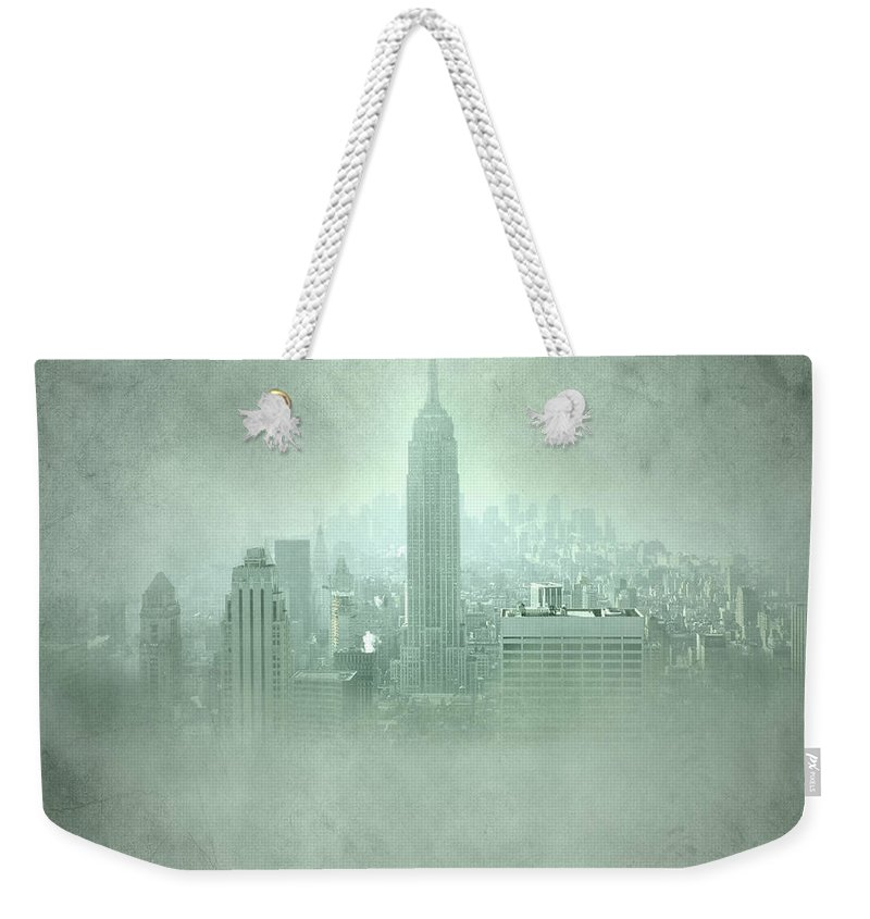 New York Weekender Tote Bag featuring the photograph New York Fantasy by Guido Montanes Castillo