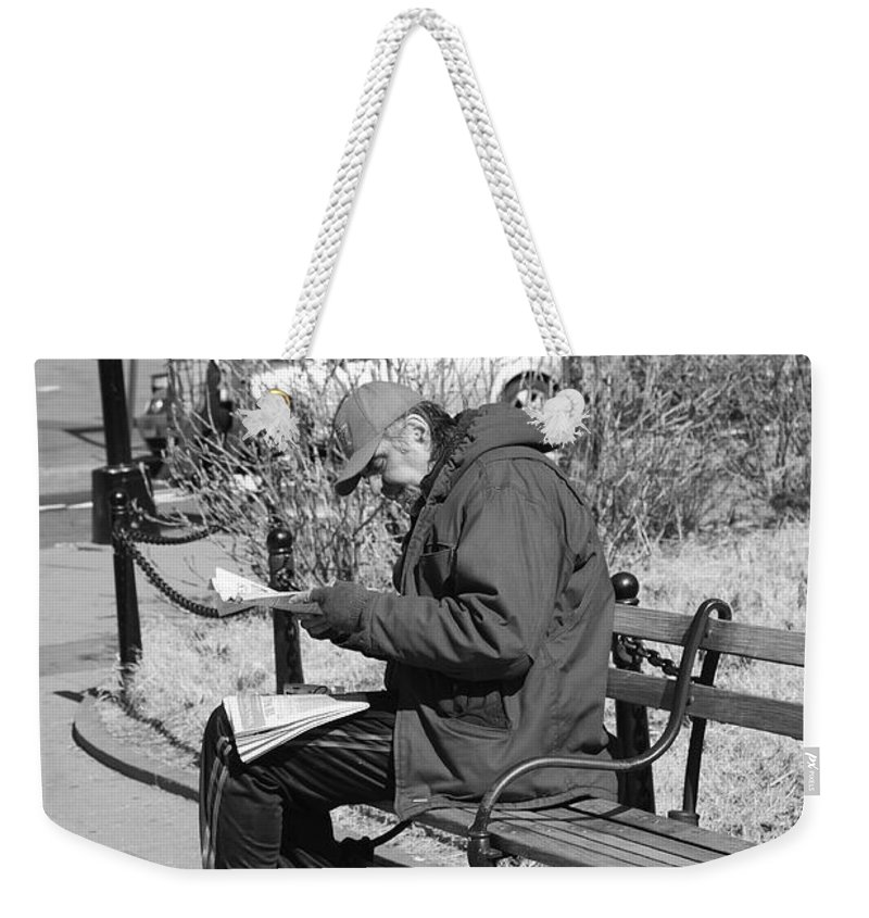 Architecture Weekender Tote Bag featuring the photograph New York Street Photography 2 by Frank Romeo