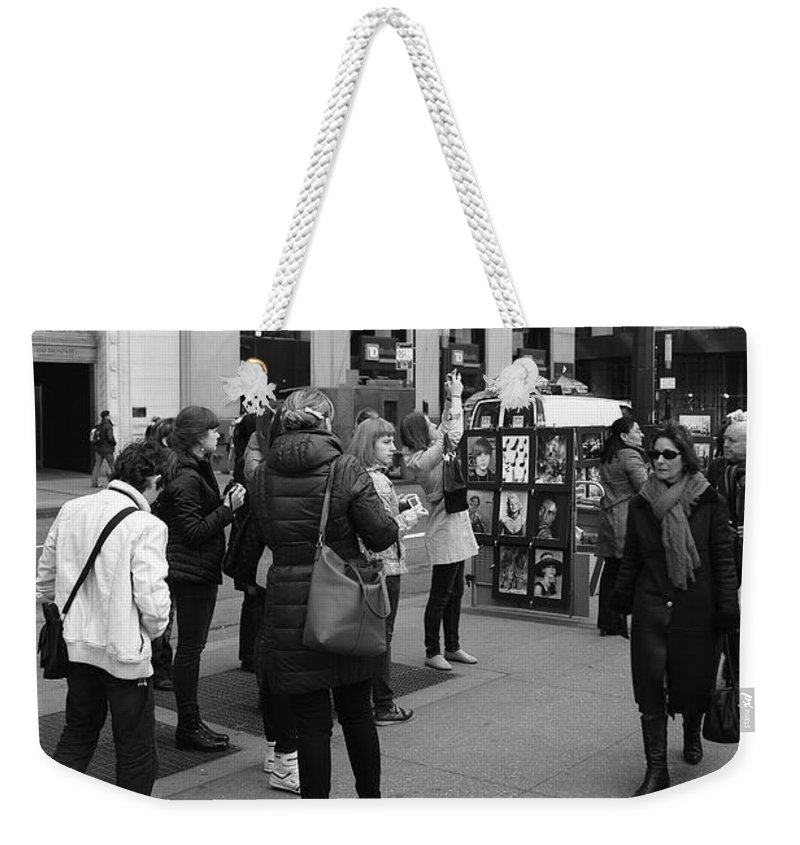 Architecture Weekender Tote Bag featuring the photograph New York Street Photography 3 by Frank Romeo