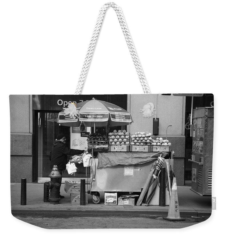 Apples Weekender Tote Bag featuring the photograph New York Street Photography 6 by Frank Romeo