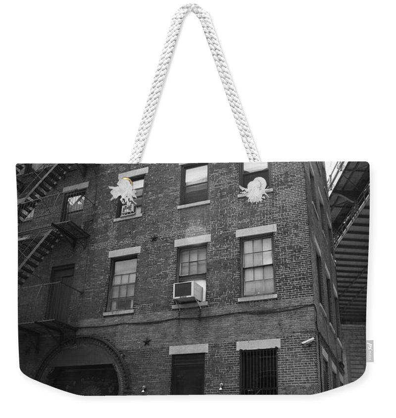 Apartments Weekender Tote Bag featuring the photograph New York Street Photography 9 by Frank Romeo