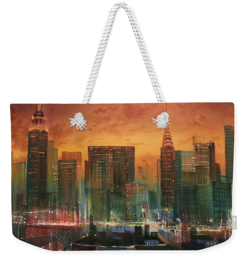 City Scene Weekender Tote Bags