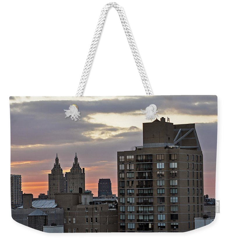 Landscape Weekender Tote Bag featuring the photograph New York Twin Peaks West Side by Phyllis Tarlow