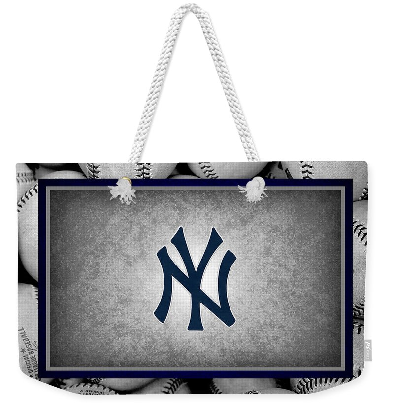 Yankees Weekender Tote Bag featuring the photograph New York Yankees by Joe Hamilton