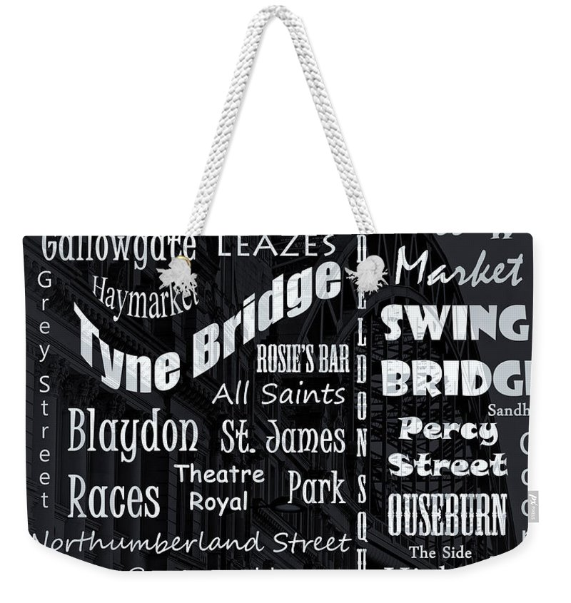 Newcastle Weekender Tote Bag featuring the photograph Newcastle by David Pringle