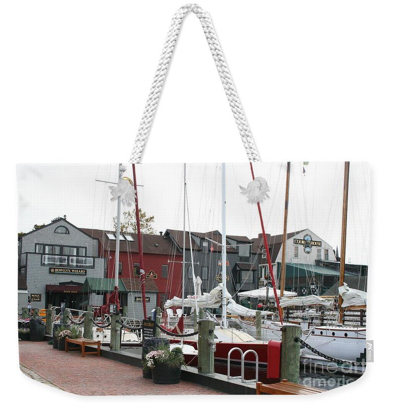 Habor Weekender Tote Bag featuring the photograph Newport - Rhode Island by Christiane Schulze Art And Photography