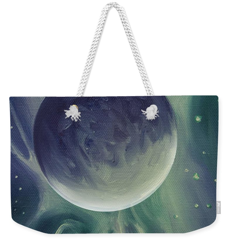 Space Weekender Tote Bag featuring the painting Ngc 1032 by James Christopher Hill