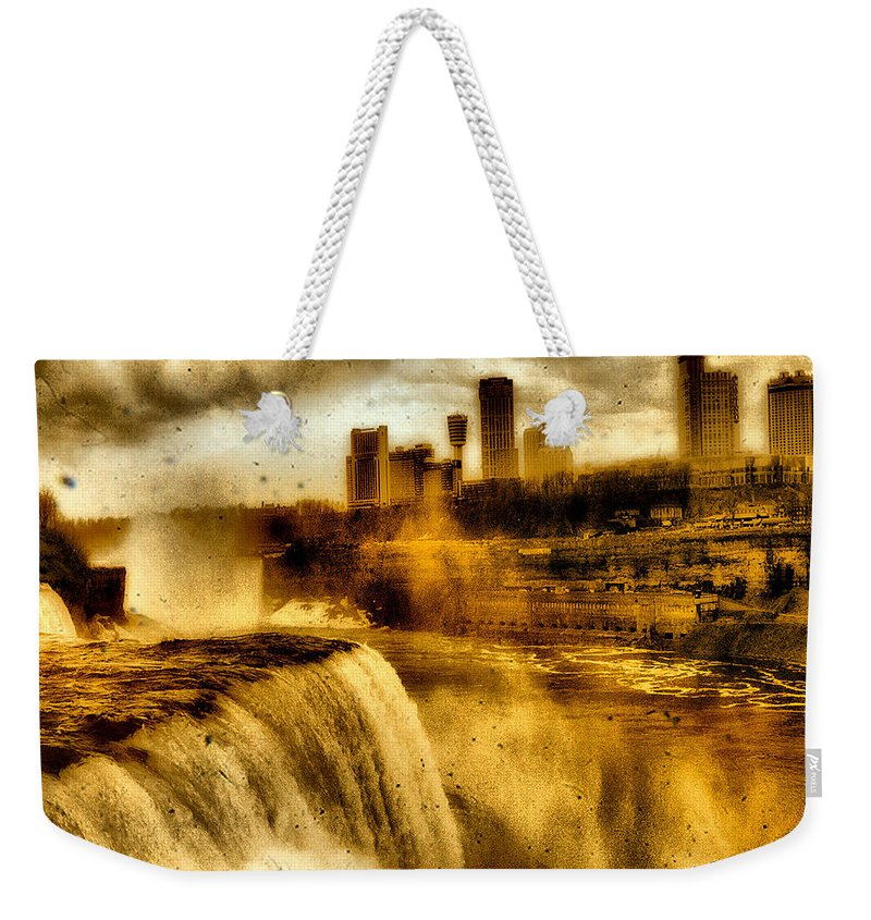 Niagara Falls On American Side Weekender Tote Bag featuring the photograph Niagara Falls by Gothicrow Images
