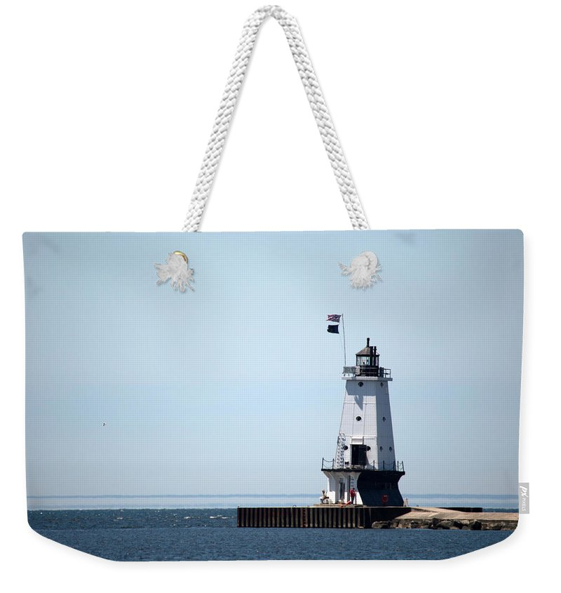 Ludington Weekender Tote Bag featuring the photograph Nice Breeze by Linda Kerkau
