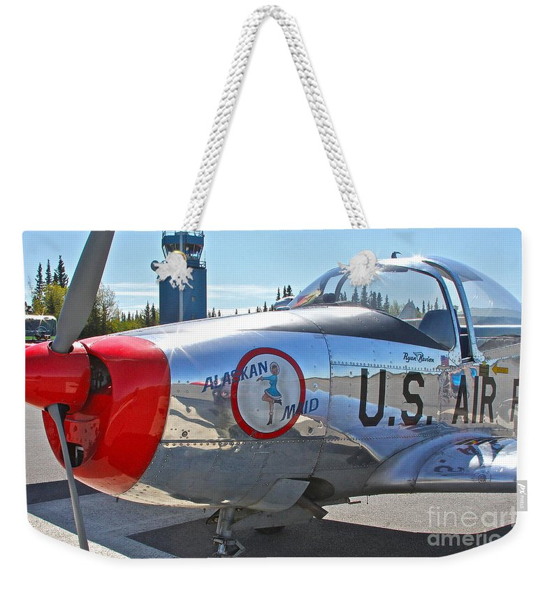 Aircraft Weekender Tote Bag featuring the photograph Nice Shine by Rick Monyahan