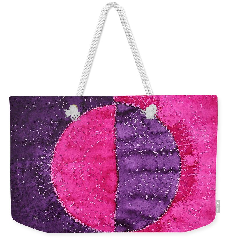 Night Weekender Tote Bag featuring the painting Night And Day Original Painting by Sol Luckman