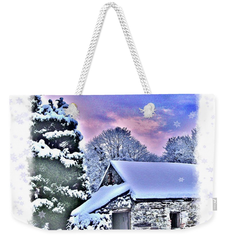 Christmas Weekender Tote Bag featuring the photograph Christmas Card 27 by Nina Ficur Feenan