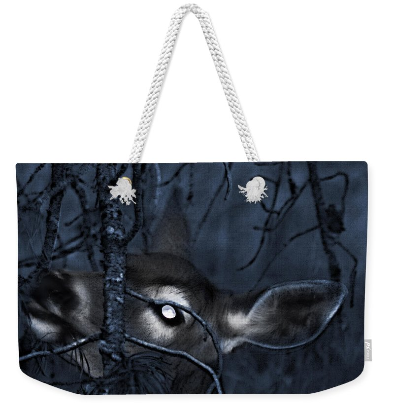 Deer Weekender Tote Bag featuring the photograph Night Grazing by Janie Johnson