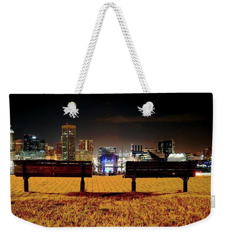 City Weekender Tote Bag featuring the photograph Night In The City by La Dolce Vita