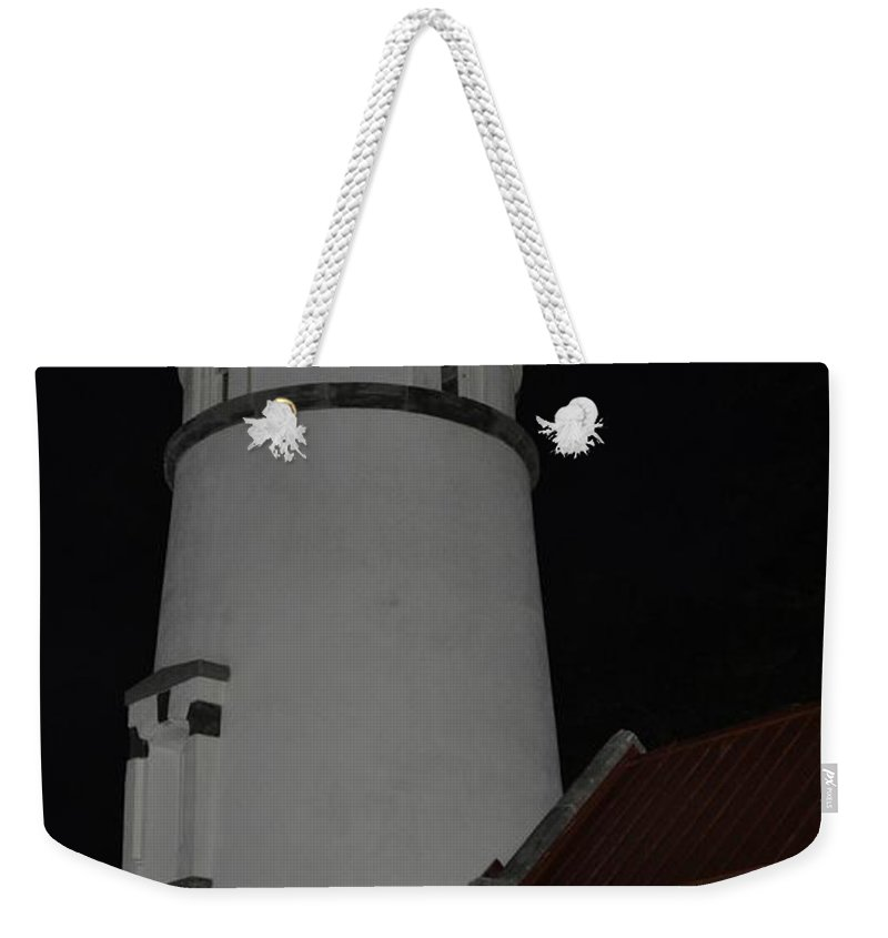 Heceta Head Weekender Tote Bag featuring the photograph Night Life At Heceta by Image Takers Photography LLC - Laura Morgan
