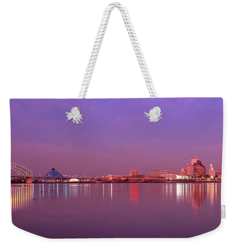 Photography Weekender Tote Bag featuring the photograph Night Memphis Tn by Panoramic Images