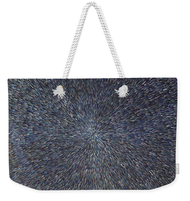 Abstract Weekender Tote Bag featuring the painting Night Radiation by Dean Triolo