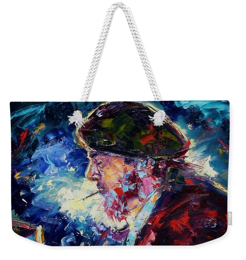 Blues Weekender Tote Bag featuring the painting Night Tripper by Debra Hurd