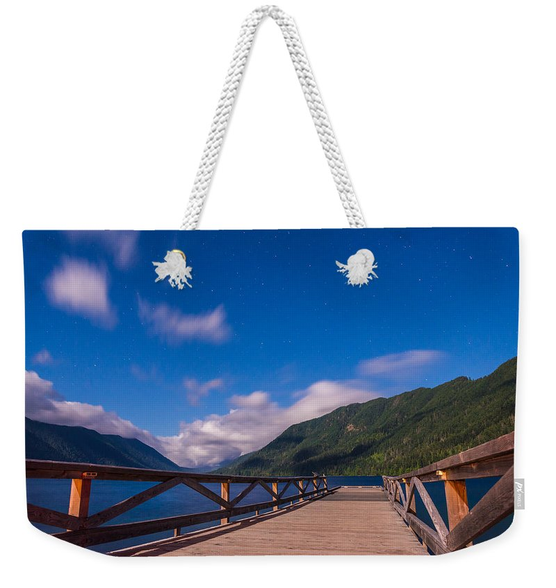 Olympic National Park Weekender Tote Bag featuring the photograph Night Visions by Kristopher Schoenleber
