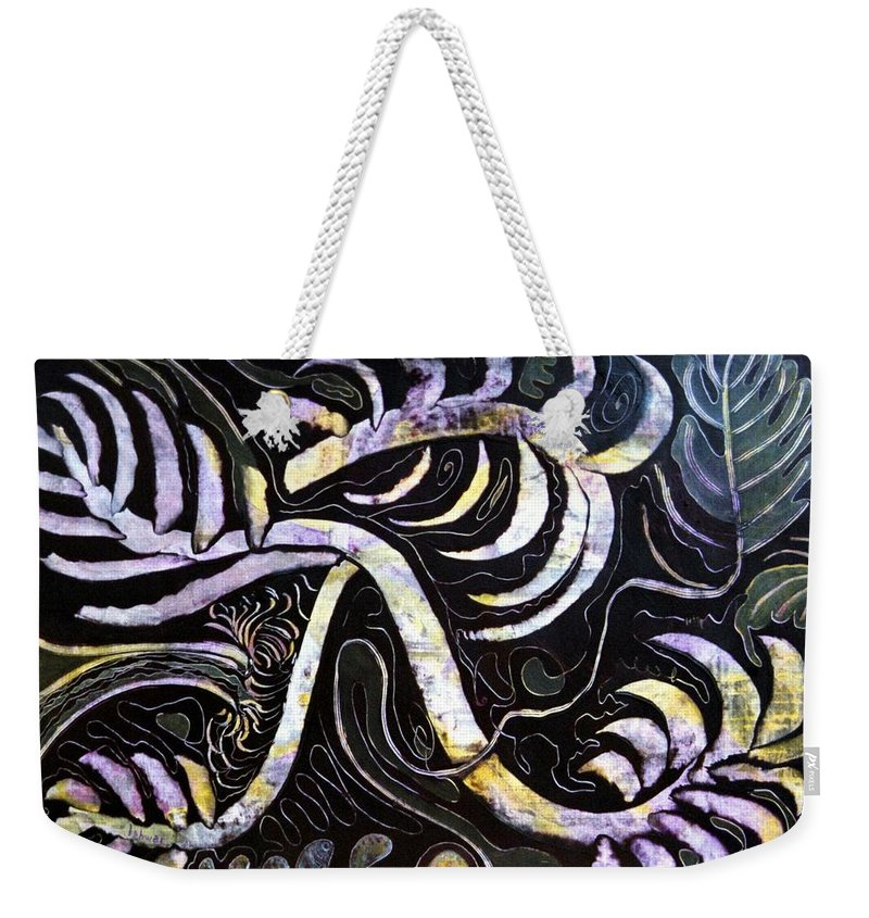 Night Weekender Tote Bag featuring the painting Night Watch by Ishwar Malleret