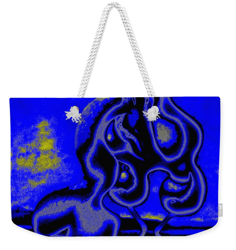 Genio Weekender Tote Bag featuring the mixed media Nightly Longing by Genio GgXpress