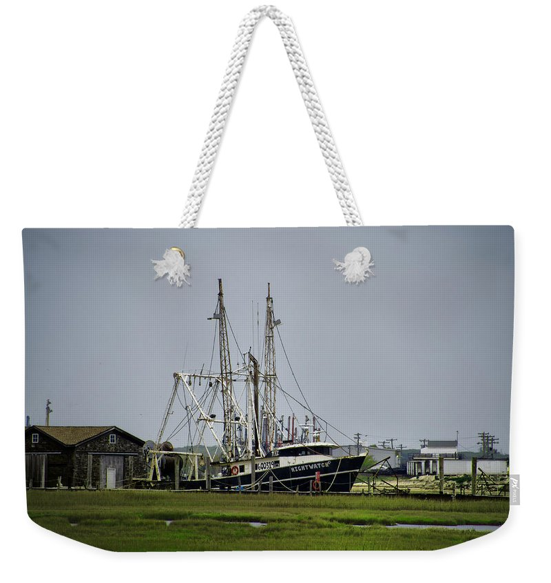 New Jersey Sunrise Weekender Tote Bag featuring the photograph Nightwatch by Bill Cannon