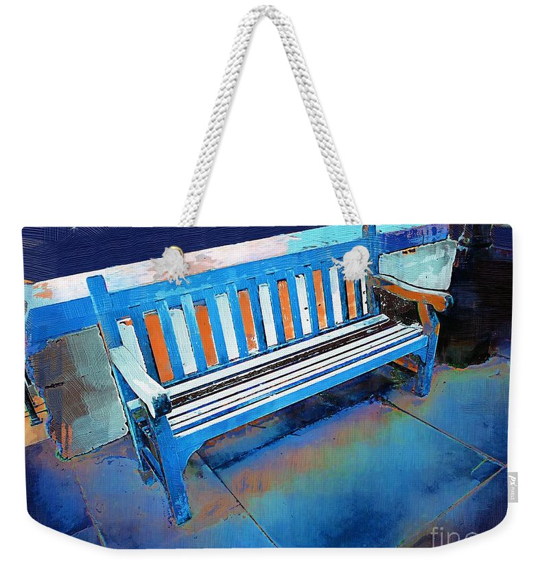 Bench Weekender Tote Bag featuring the painting Nineteen Stars by RC DeWinter