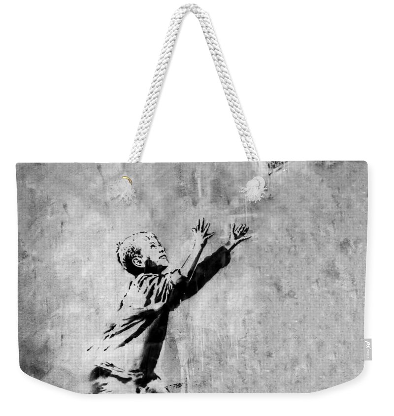 London Weekender Tote Bag featuring the photograph No Ball Games by A Rey