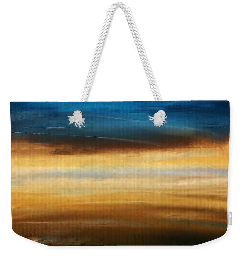 Seascapes Abstract Weekender Tote Bag featuring the digital art No Ending by Lourry Legarde
