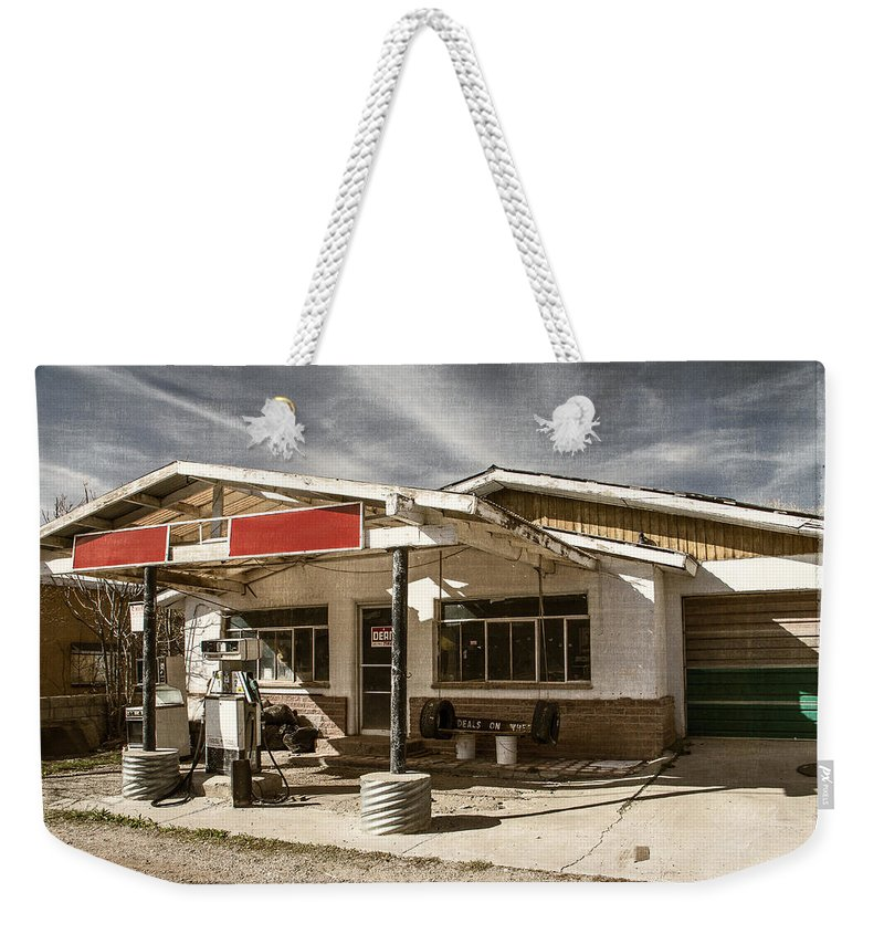 Made In America Weekender Tote Bag featuring the photograph No Gas by Steven Bateson