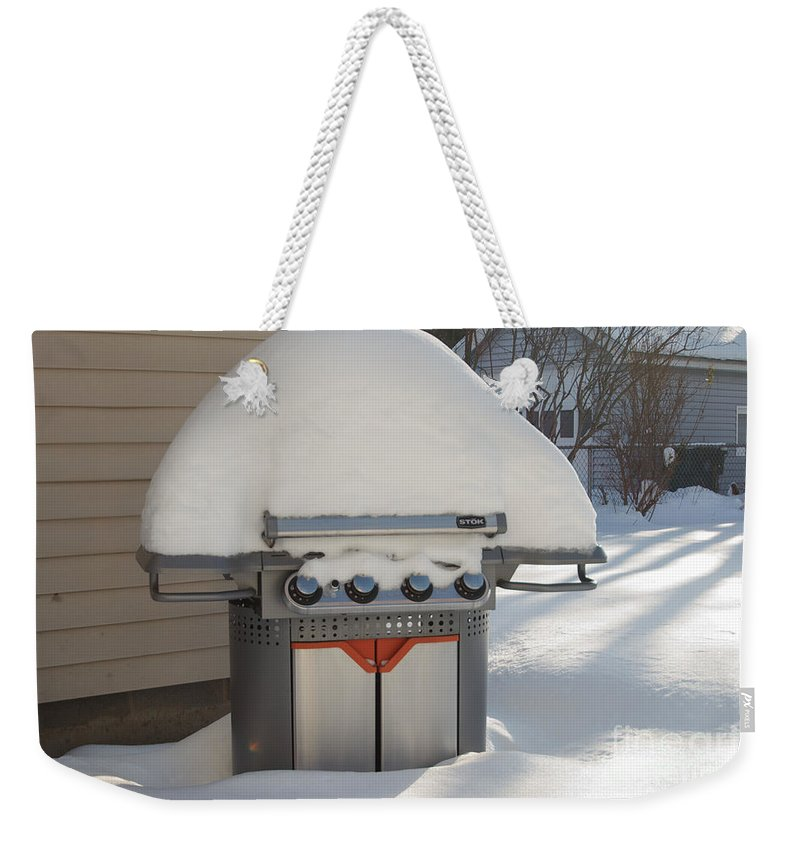 Winter Weekender Tote Bag featuring the photograph No Hot Dogs by William Norton