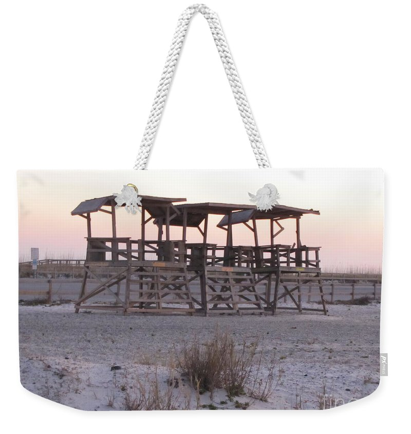 Lifegaurd Weekender Tote Bag featuring the photograph No Lifegaurds by Michelle Powell