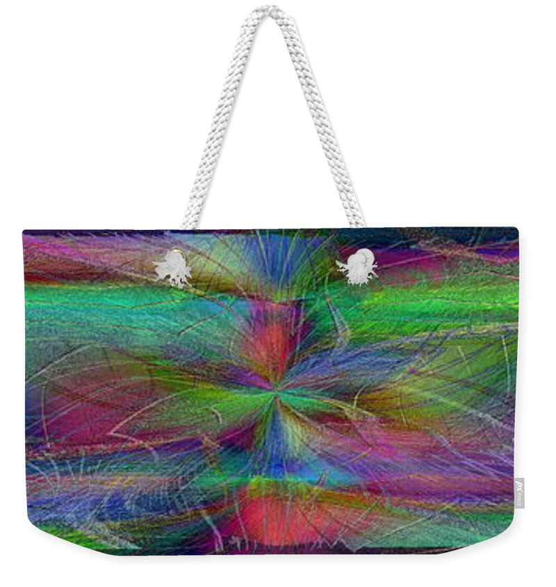 Abstract Weekender Tote Bag featuring the digital art No Strings Attatched 2 by Tim Allen