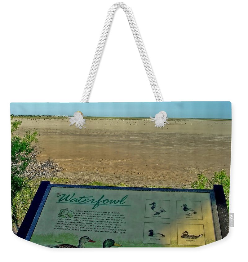 Water Weekender Tote Bag featuring the photograph No Water No Fowl by Gary Holmes